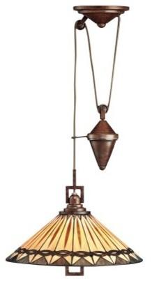 Kichler Art Glass Creations Pendant Light - 27H in. Bronze modern-pendant-lighting