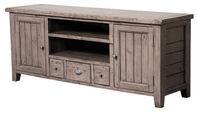 Irish Coast TV Console 3 Drawer/2 Door - traditional - media
