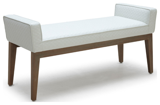 chelsea bench contemporary upholstered benches by inmod