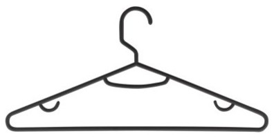 Honey Can Do Recycled Plastic Hangers - Set of 60 modern-hooks-and-hangers