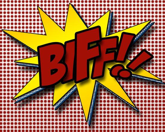 Superhero print 11x14 vintage comic sound-Biff! -