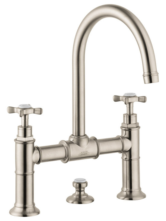 Axor Montreux Widespread Faucet with Cross Handles, Bridge Model -