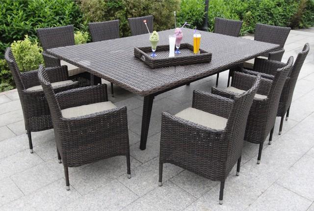 Contemporary Outdoor Dining Set 48