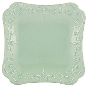 Lenox French Perle Blue Square Dinner Plate - Set of 4 modern-plates