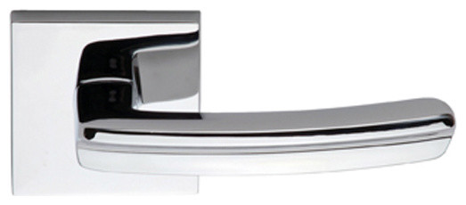 Contemporary Leverset With Square Rose contemporary-door-hardware