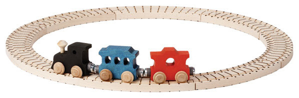 Basic Wooden Toy Train Set traditional-kids-toys