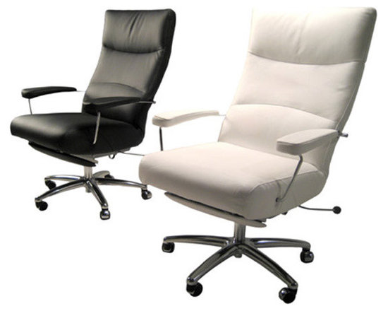 Josh Executive Chair Recliner - Stretch and relax with style for brief moments during a long work day.  Available in a variety of colors.