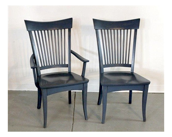Concord Dining Chair In Blue Finish - Made by http://www.ecustomfinishes.com