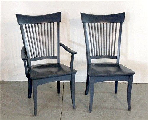 Concord Dining Chair In Blue Finish Farmhouse Dining Chairs boston by