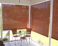 Exterior Porch Shades beach-style-roller-blinds