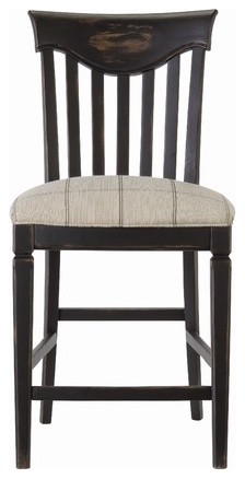 Great Rooms Wine Barrel Counter Chair in Distressed Charcoal (Set of 2) modern-cocktail-shakers-and-bar-tool-sets