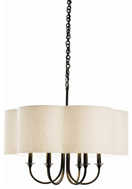 Rittenhouse Chandelier, Eggshell, Standard contemporary-chandeliers