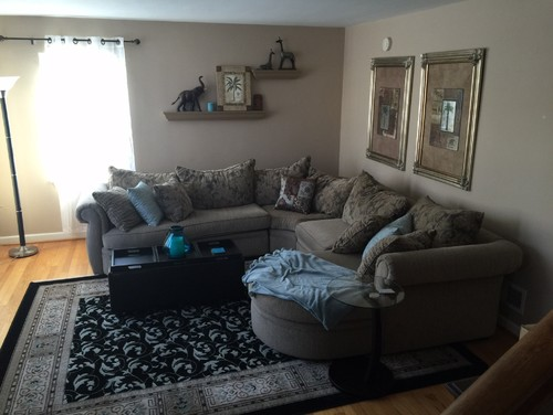 Dark living room for How to brighten a room