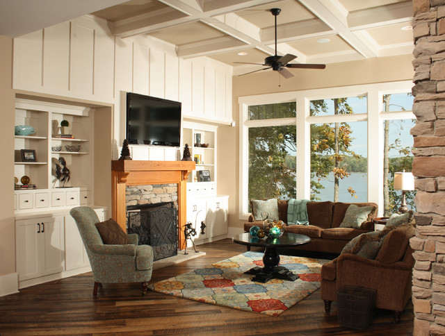 Lake house traditional family room other metro by for Southern living keeping room ideas