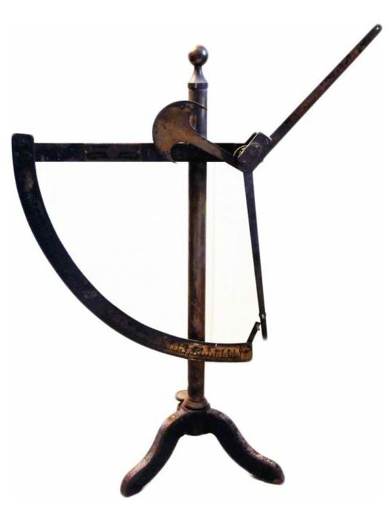 Engineer Scale - An interesting object, with beautiful lines and patina. This is an old Alfred Suter textile engineer scale with very substantial weight.