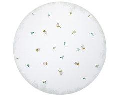 "Lovebirds Linen Tablecloth, 108"" Round contemporary-tablecloths"