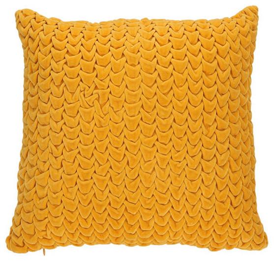 Quilted Velvet Pillow contemporary-pillows