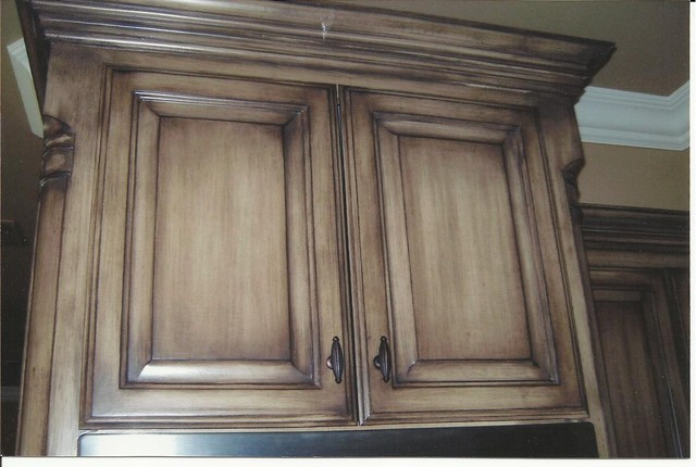 Houzz photo - How to glaze kitchen cabinets that are painted ...