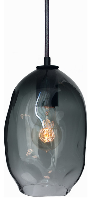 BUBBLE HAND BLOWN GLASS PENDANT-SMALL industrial-pendant-lighting