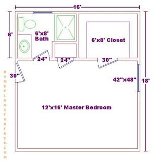 Free 12x16 master bedroom design ideas floor plan with for 6 x 14 bathroom layout