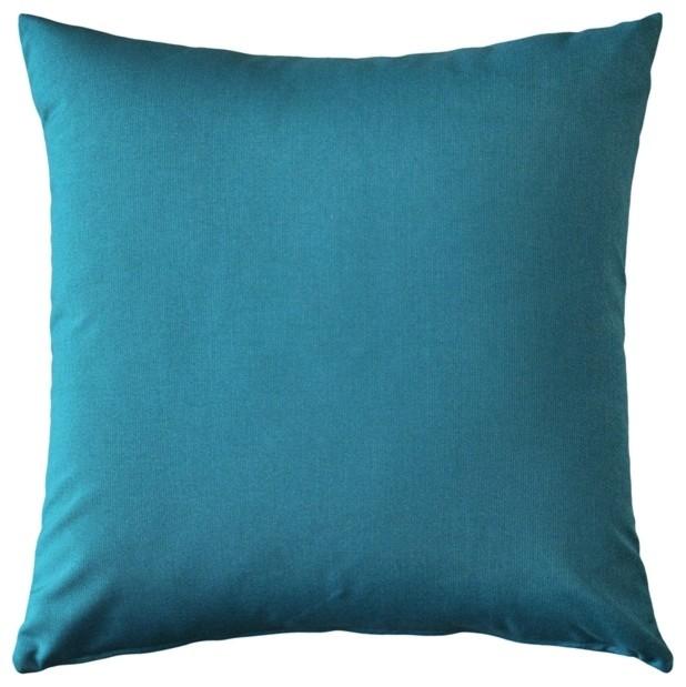 Pillow Decor - Sunbrella Peacock Outdoor Pillow 20 x 20 - Contemporary - Outdoor Cushions And ...
