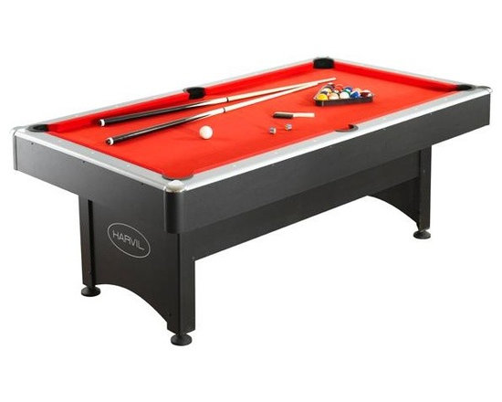 Harvil 7' Pool Table with Table Tennis - -Ping Pong and Pool: All in One Table and Easy-to-Switch!