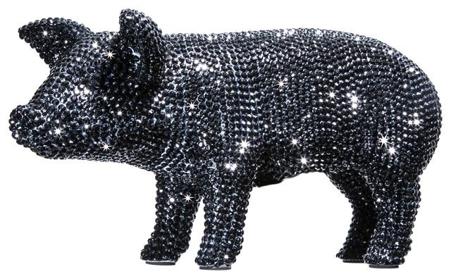 Black Rhinestone Piggy Bank Contemporary Piggy Banks By Interior Illusions