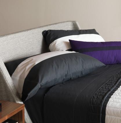 Unison Wideband in Charcoal - Queen Pillowcase (pair) modern-pillowcases-and-shams