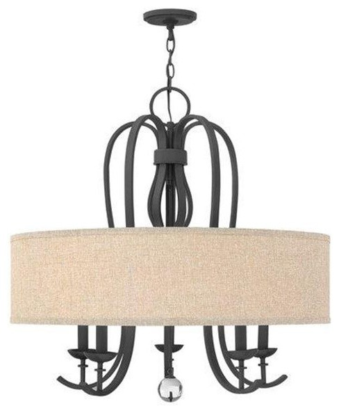 Hinkley Lighting 4473TB 5Lt. Drum Chandelier Marion Collection traditional-chandeliers
