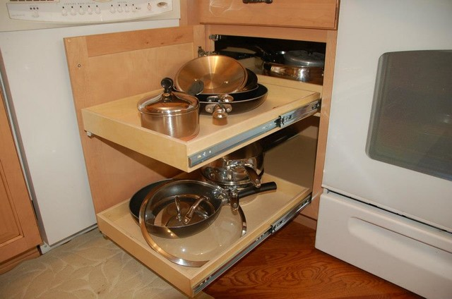 Pull Out Shelves - Blind Corner Solution - louisville - by ShelfGenie of Kentucky
