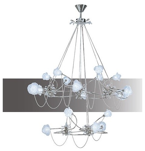 Rosa 18 Light Chandelier modern-chandeliers