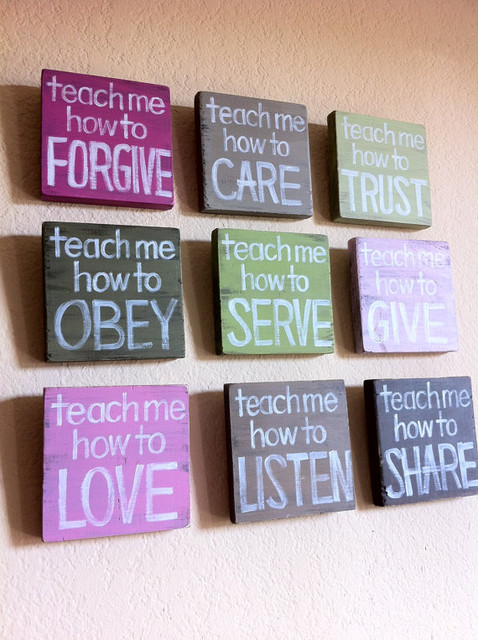 Inspirational Christian Art Teach Me Wood Blocks By grace for grace  nursery decor