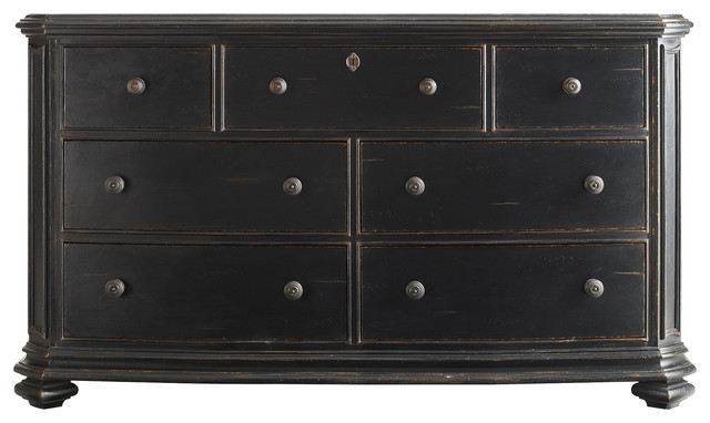Continental Bedroom Triple Dresser traditional-dressers