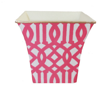 Oversize Trellis Candle, Hot Pink contemporary-candles