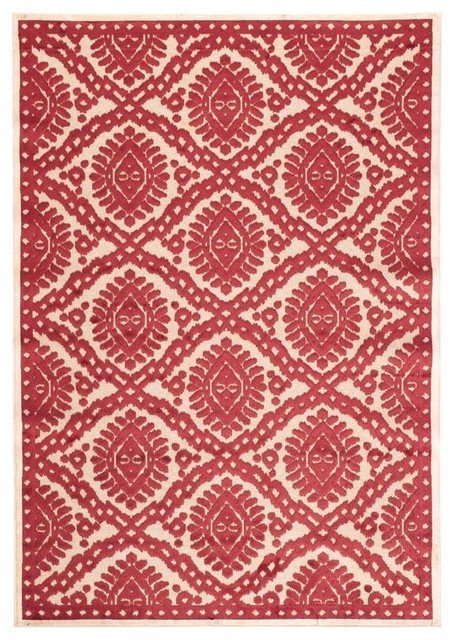Exotic Ikat Area Rug Mediterranean Rugs By Home
