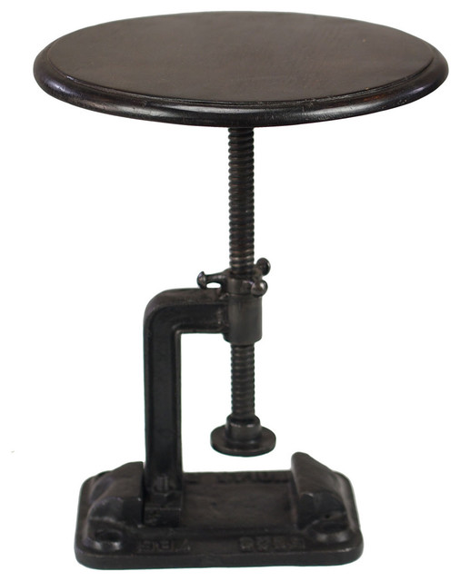 Hartford : Industrial Style Table Stool - Industrial - Footstools And Ottomans - by CRASH ...