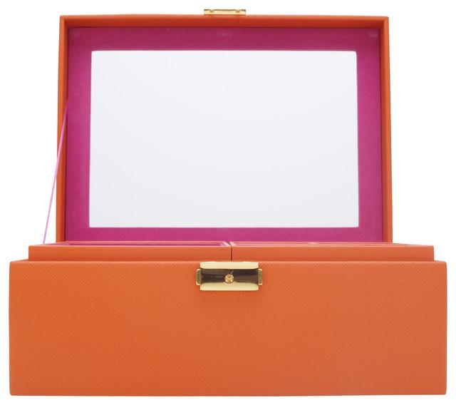 Brighton Jewelry Box Medium, Orange - Modern - Jewelry ...