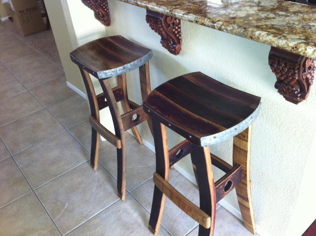 Wine Barrel Barstools No Back Furniture orange  :  furniture from www.houzz.com size 640 x 478 jpeg 73kB