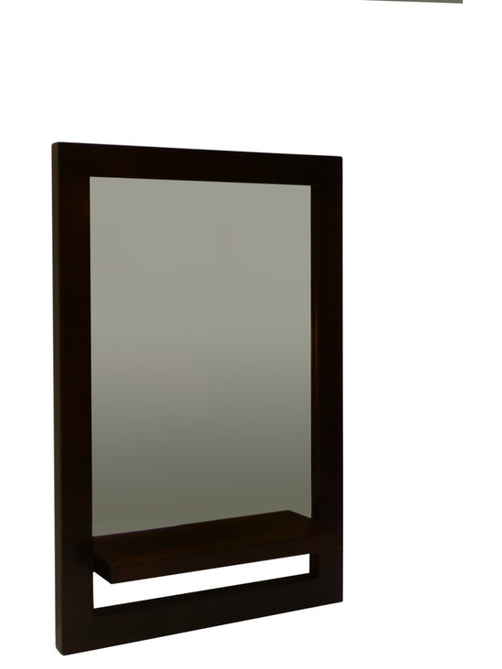Gingko - Vertical Shelf Mirror, Dark - Small Mirror with a big impact.  Great interplay of positive and negative space.