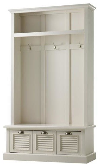 Shutter Locker Storage Polar White Traditional Hall Trees By Home Decorators Collection