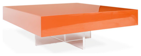 Lacquer Block Cocktail Table modern coffee tables