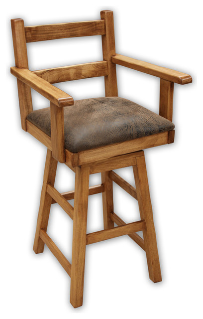 Artisan Home Lodge 100 Arm Swivel Barstool 30 Traditional Bar Stools And Counter Stools