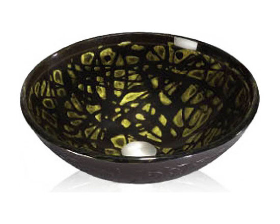 """Colored Glass Vessel - Overall Dimensions: 16 x 16 Bowl Dimensions: 15 x 15 x 6 Powder room, family bath or master suite, bathrooms have assumed a position of prominence in the home. It seems so right to place an object of beauty in the bath to enjoy. Tempered for strength, designed for your pleasure, the bath series offers the best range of styles imaginable. The Colored Glass Vessel Group reflects light as water dances around the jeweled colors and rich designs. Made of Tempered glass, these vessels undergo an 11-step process and go through many gifted hands to create theses beautiful works of art. Translucent colors or saturated designs in smooth or textured surface, the Glass Vessel Collection has a lovely art-glass piece for your bath. Superior craftsmanship, good design unrivaled value and a """"No Worries"""" customer service philosophy, conspire to bring you the finest in affordable luxury sinks."""
