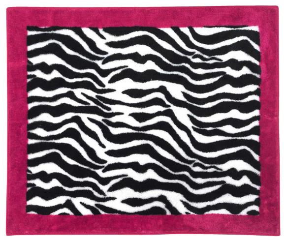 Pink Zebra Accent Floor Rug