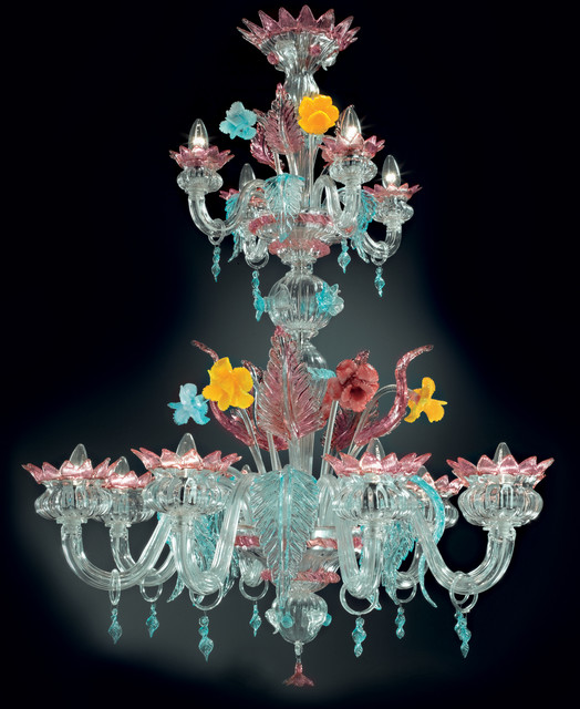 Topdomus Murano Chandelier Traditional Chandeliers