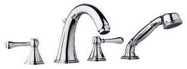 Geneva Roman Tub Faucet with Hand Shower modern bathroom faucets