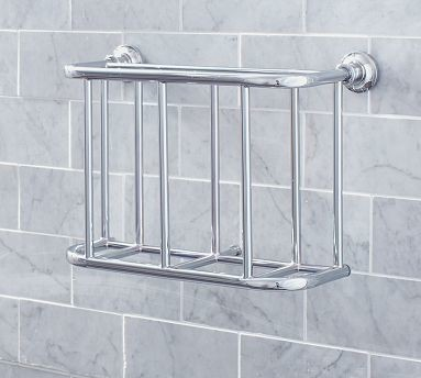 Hayden Magazine Rack Chrome finish Traditional