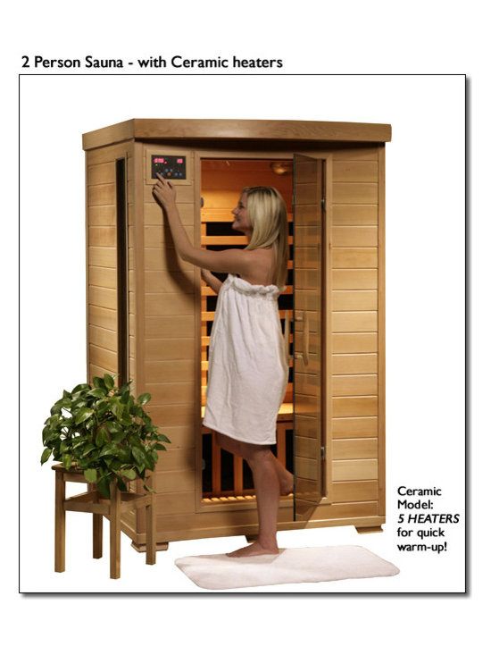 "Blue Wave - Blue Wave 2Person Ceramic Infrared Sauna - Coronado - 2 person infrared sauna with ceramic heaters the Coronado 2 person infrared sauna is perfect for relaxing and rejuvenating and will fit in virtually any room in the house. The natural hemlock wood color will enhance any decor. Its dual interior and exterior led control panels allow for easy temperature control. Coronado is available in ceramic or carbon heater options and is loaded with tons of extras, including towel hooks and magazine racks, cd player with mp3 plug-in, 2 speakers, backrests, color therapy light and an oxygen ionizer. Coronado is perfect for basking in the warmth with your special someone - add one to your home today! heaters 5 ceramic heaters - more heaters means your heatwave infrared sauna; is more effective! location - the Coronada ceramic sauna has 2 ceramic heaters on the back wall, 1 on the front of the bench, and 1 on each side of the sauna. These 5 ceramic heaters evenly bask you in soothing infrared heat. Infrared wavelength - heatwave saunas put out infrared wavelengths from 5-12 microns, which are the portions of infrared heat that most benefit the human body. Operating temperature - heatwave saunas operate up to 141 degrees f. 1600 watts - see power distribution diagram for individual heater wattages. Wood and construction heatwave saunas; are made of solid hemlock wood and constructed with tongue and groove assembly. The exterior of the sauna is stained with an appealing, natural color; the interior is smooth sanded natural wood. Power requirements this heatwave sauna; uses 120V/15Amp power, and will plug right into your standard home electric outlet. No need to upgrade or change out electrical! control panel heatwave saunas; come equipped with dual easy-touch interior and exterior led control panels - easily adjust your sauna settings from inside or outside. Bronze tinted glass the door and glass panels on heatwave saunas; are made of beautiful, 7Mm thick, bronze tinted tempered glass. The tint provides a bit of privacy and aids in heat retention, while providing the safety of tempered glass. Lighting sauna is equipped with interior and exterior lighting, as well as a color therapy light with remote. Enjoy some reading while basking in the warmth of your heatwave sauna; sound system the Coronado comes standard with a radio with cd player and aux mp3 connection with 2 built in speakers, so you can crank up your favorite tunes while soaking up all the health benefits of your sauna! other inferior sauna brands make you pay extra for this option, but every heatwave sauna; comes with a sound system standard. Air vents the adjustable roof vent allows you to open the vent to bring in outside air if desired. Vent holes in the floor help provide air circulation. Color therapy bulb the color therapy bulb allows you to bask in rotating colors, or choose a steady stream of one of the six available colors. Enhances the sauna experience. Other sauna brands offer this as an option for an additional cost, but the color therapy system is included with this heatwave sauna; an $89. 95 value! ergonomic back rests the 2 person heatwave saunas; include 2 backrests, for ultimate sauna comfort. Back rests can be moved to any desired location, making your sauna session even more comfortable and enjoyable. Oxygen ionizer the included electronic oxygen ionizer releases negative ions, which help purify the air in your sauna, keeping it clean and fresh. The ionizer is an optional feature with many inferior sauna brands, but it's included in this heatwave sauna;! a $49. 95 value! specifications capacity - the Coronado will comfortably seat 2 people on the extra deep bench that runs along the back wall of the sauna. Product dimensions - once assembled the Coronado sauna measures approximately 47; x39; x75; see sauna dimensions diagrams for details. Product weight - 300 lbs. Assembly - heatwave saunas; come partially assembled, and to complete assembly you will need 2 people, a screwdriver, a ladder and about an hour. Comprehensive instruction manual is included, and in a very short amount of time your sauna will be ready for use! warranty 5-year warranty on heaters, structure and electrical. 1-year warranty on radio. Certifications heatwave saunas; are proudly backed by cetl, which is etl valid in U. S. and Canada. Shipping information shipping weight - 319 lbs. # of cartons - 2 shipment dimensions - 78"" x 54"" x 30""."