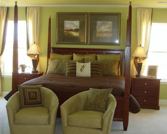 Brown and green master bedroom home design ideas pictures remodel and decor Brown and green master bedroom ideas