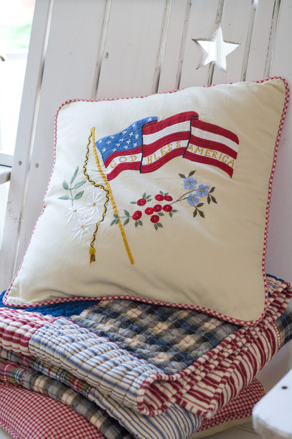 God Bless America Porch Pillow traditional-decorative-pillows